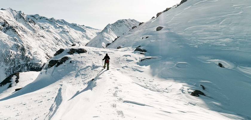 Snowsheing off piste above Saas Fee.jpg